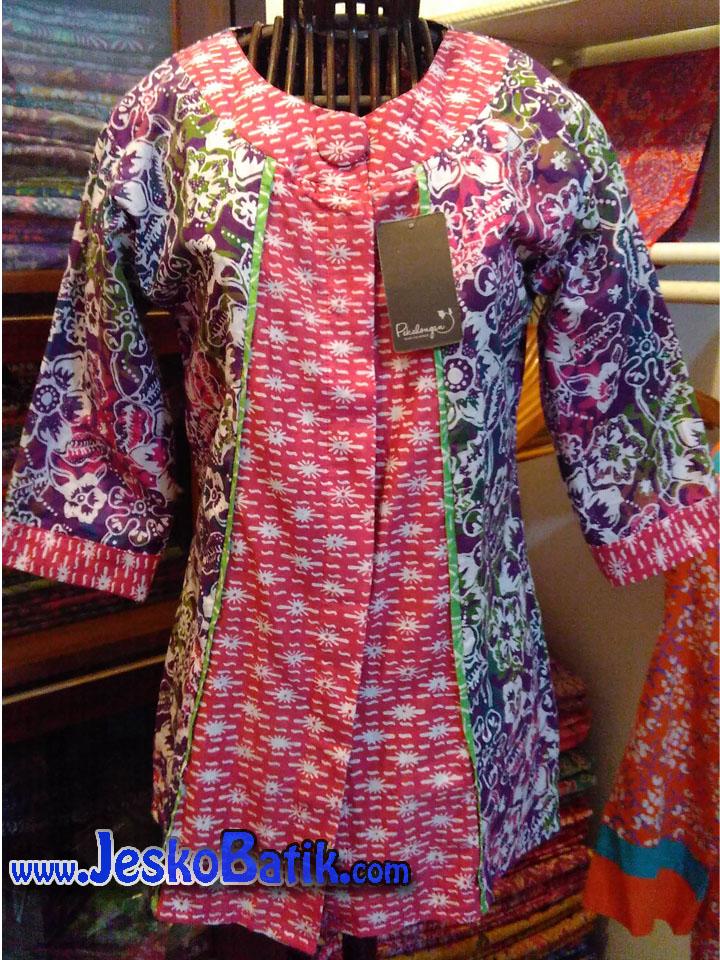 blus batik cap blouse batik wanita model blus batik