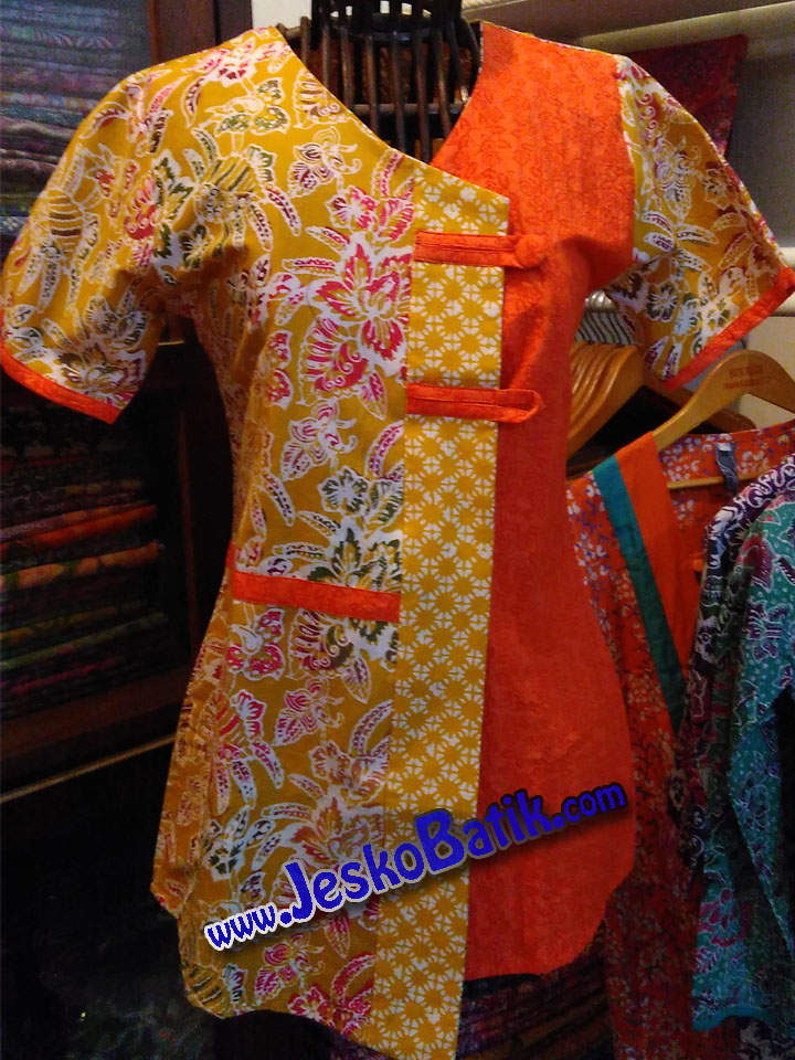 blus batik pekalongan blouse batik cap blus santai