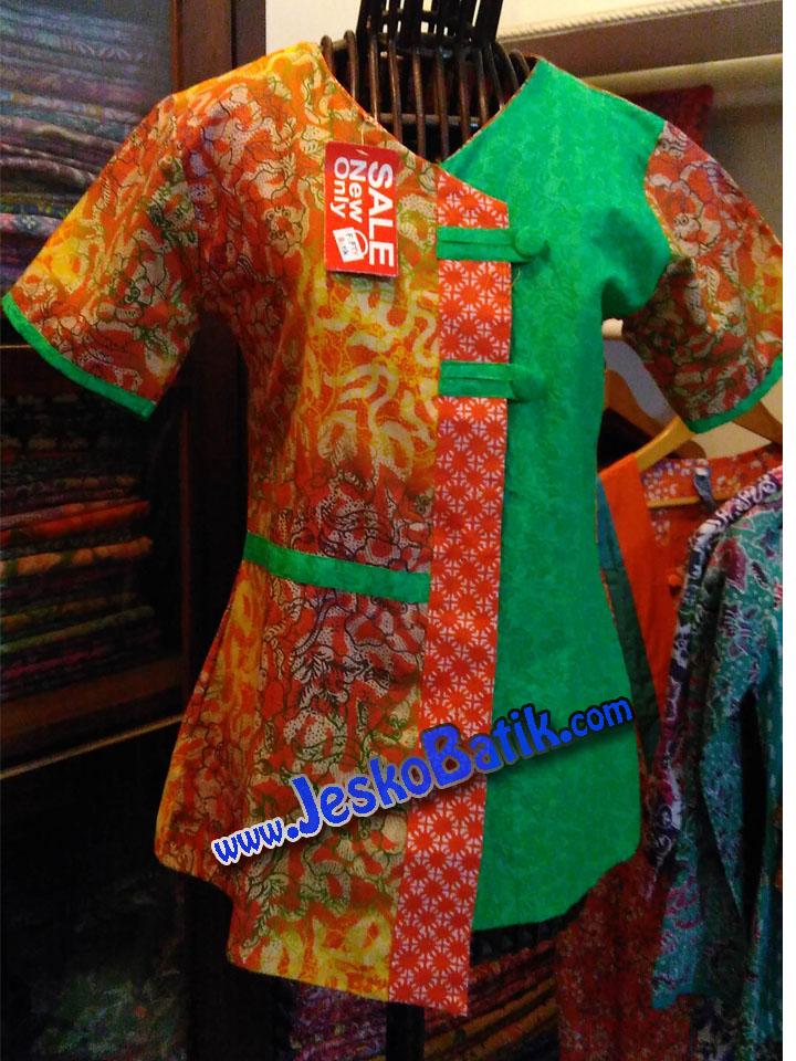 blus batik santai blouse batik cap batik pekalongan blus modern blouse modis