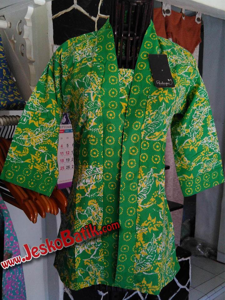 blus kerja fashion wanita batik terbaru blouse modern contoh model batik wanita