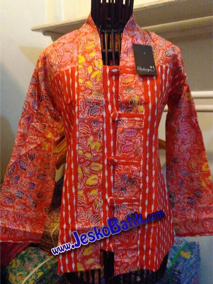 model blouse batik lengan panjang