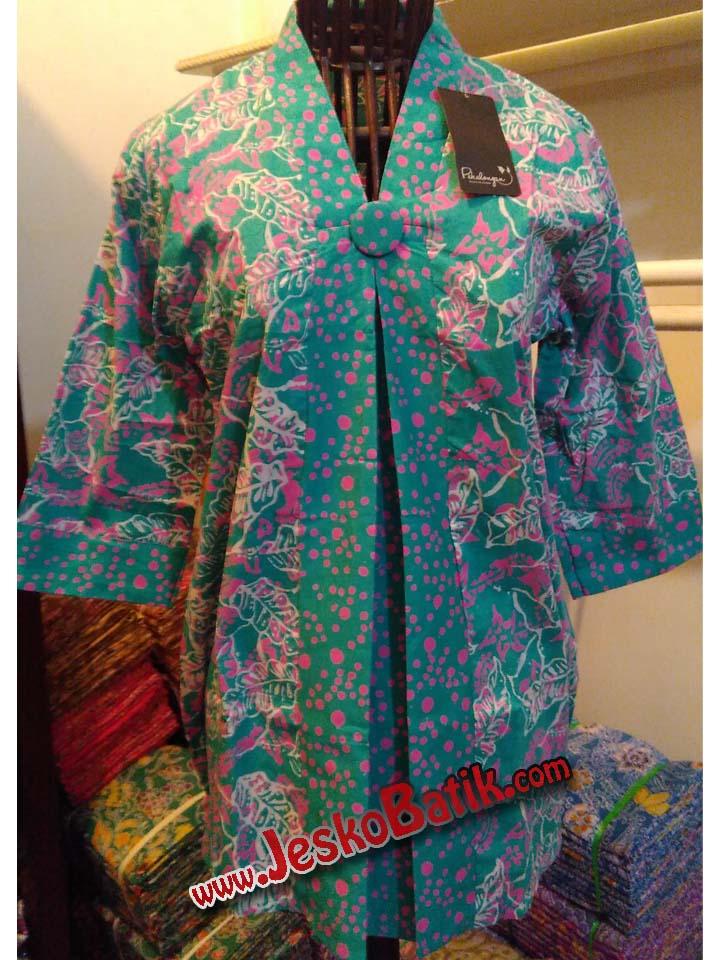blus batik cap batik pekalongan blouse kerja