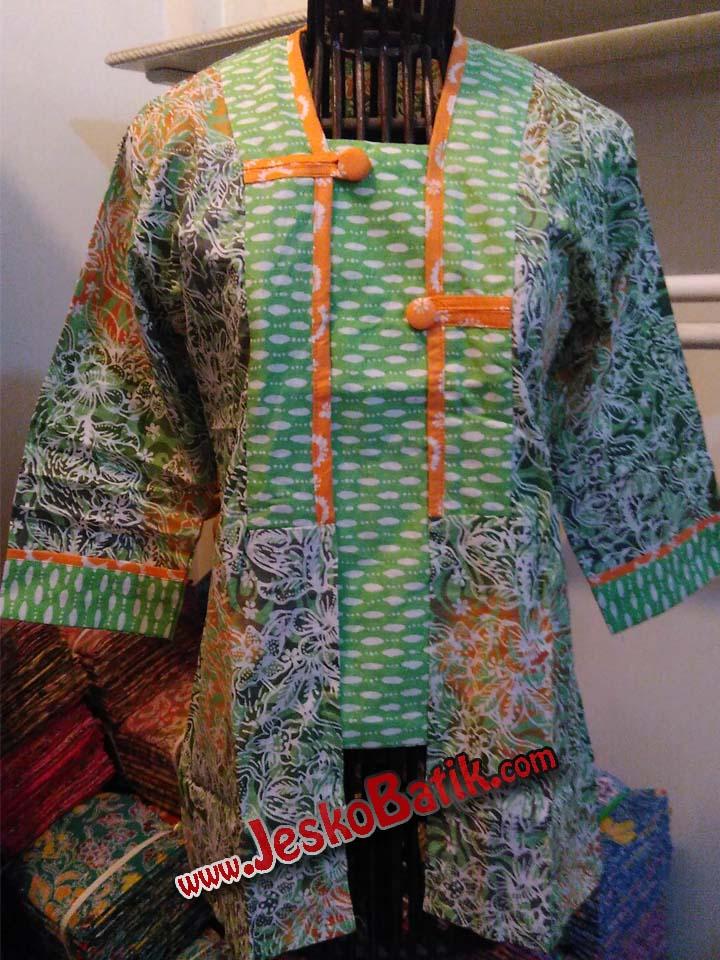 blouse kerja kutubaru batik cap pekalongan