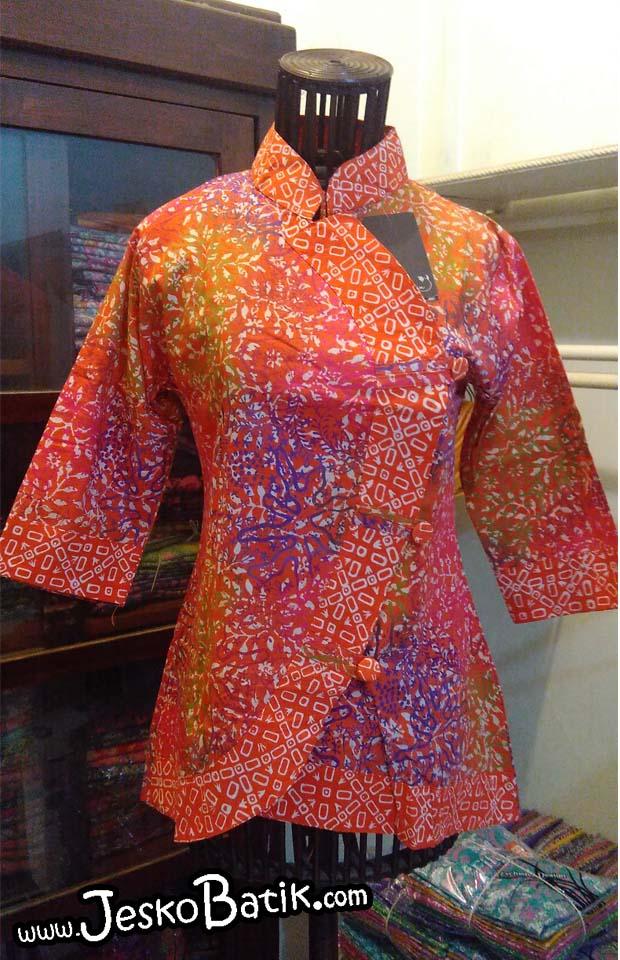 blouse kerja batik cap asli pekalongan halus