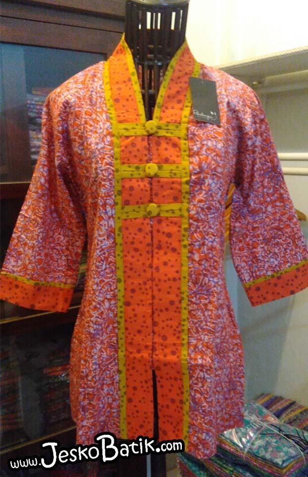 blouse batik kerja batik cap pekalongan