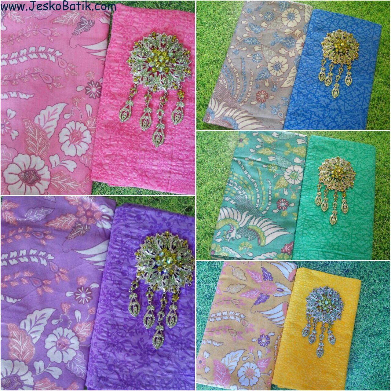 kain batik soft print warna dan kain embos motif