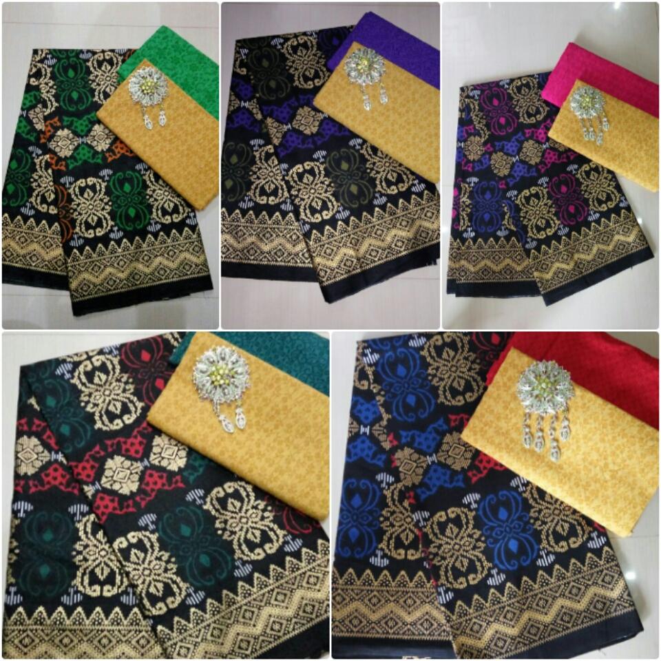kombinasi kain batik prada dan kain batik embos batik pekalongandan