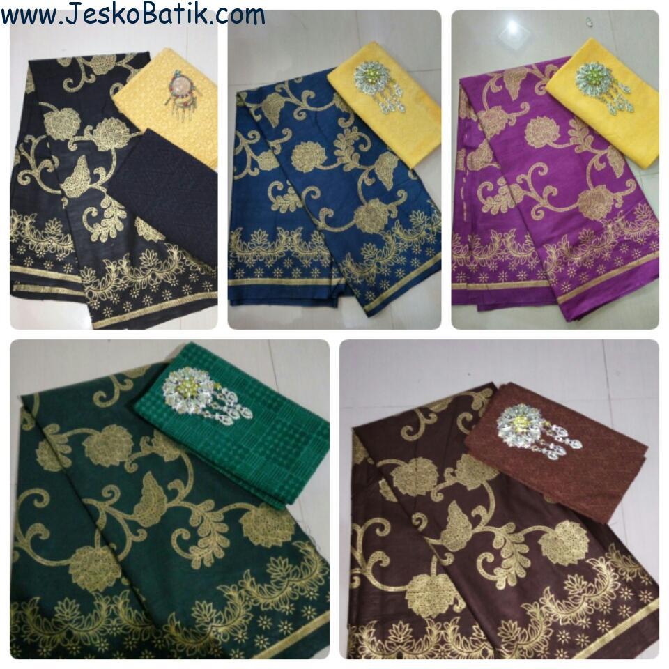 Paket Kain Prada dan Kain Embos KA31  Batik Pekalongan by Jesko Batik