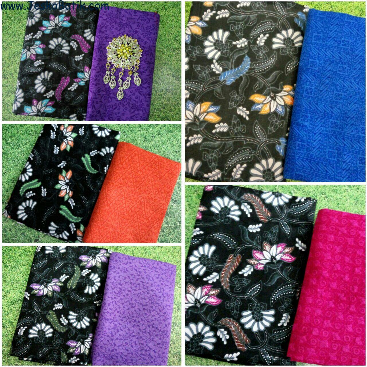 kain batik printing motif bunga batik pekalongan dankain batik embos