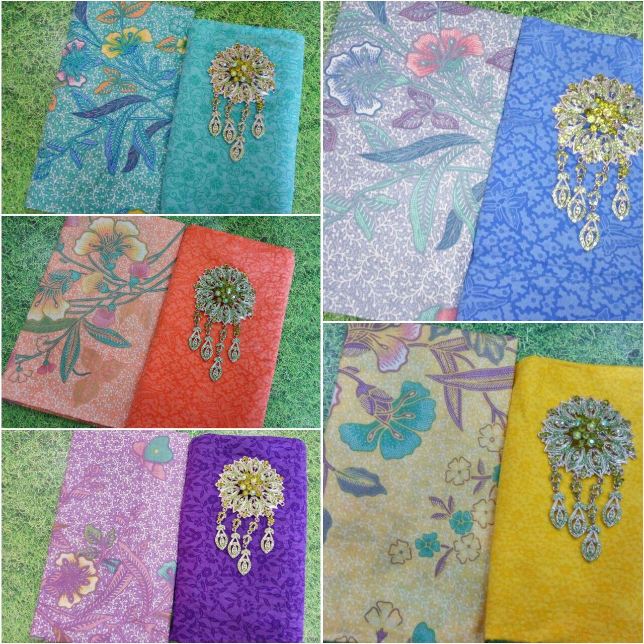 Kain Batik Print Soft Motif Bunga dan Kain Embos  KA211  Batik