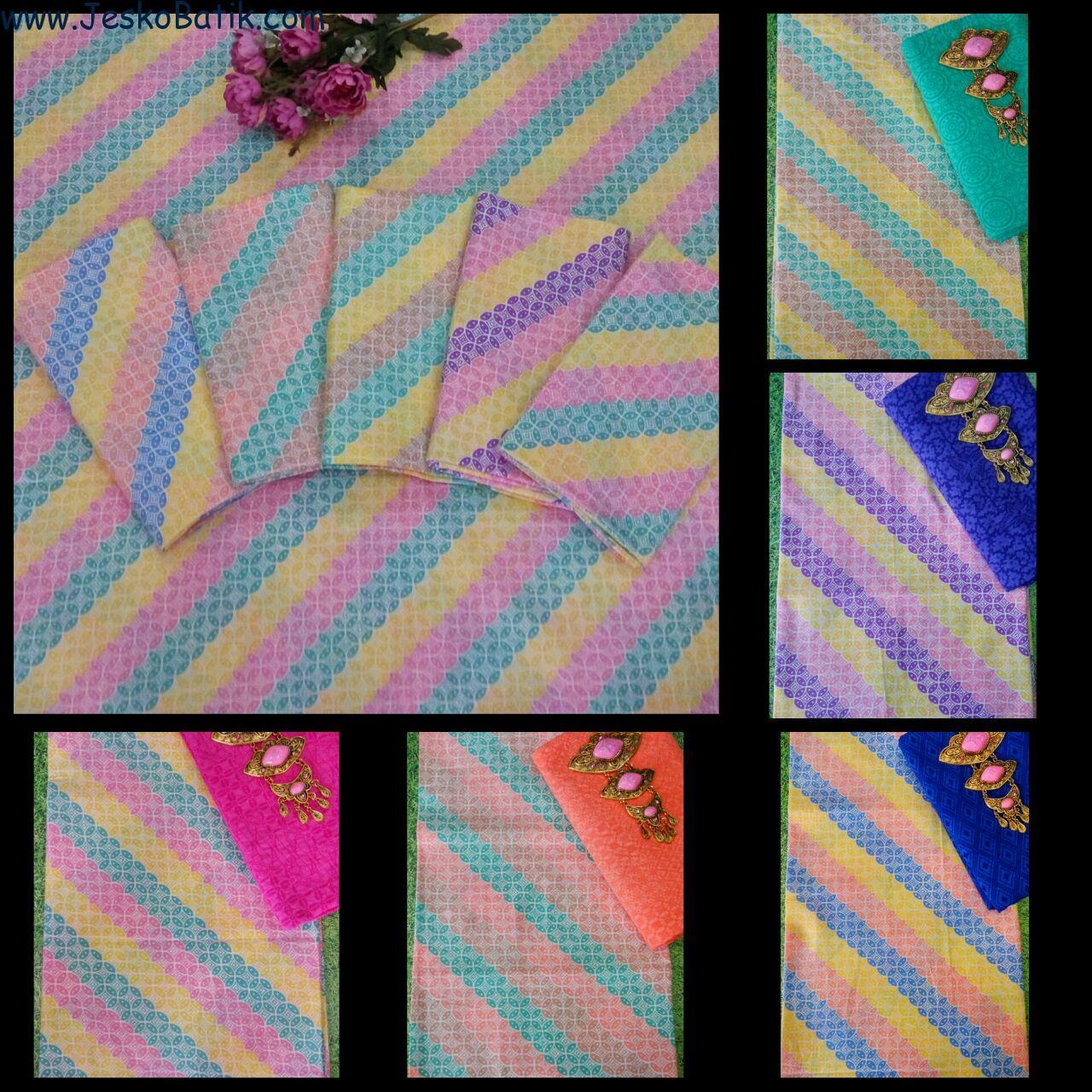 paket kain batik soft print dan kain embos seragam batik