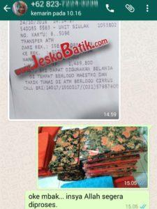 packing pemesanan batik pekalongan