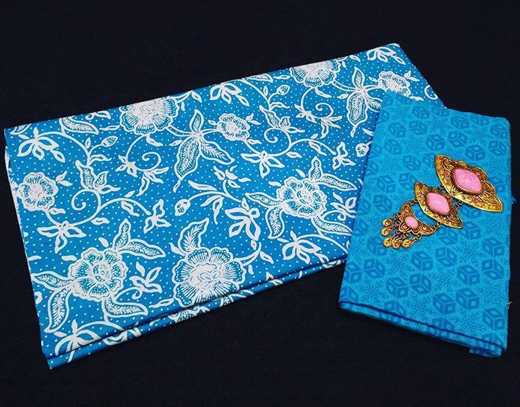 kain batik pekalongan motif bunga kombinasi kain embos