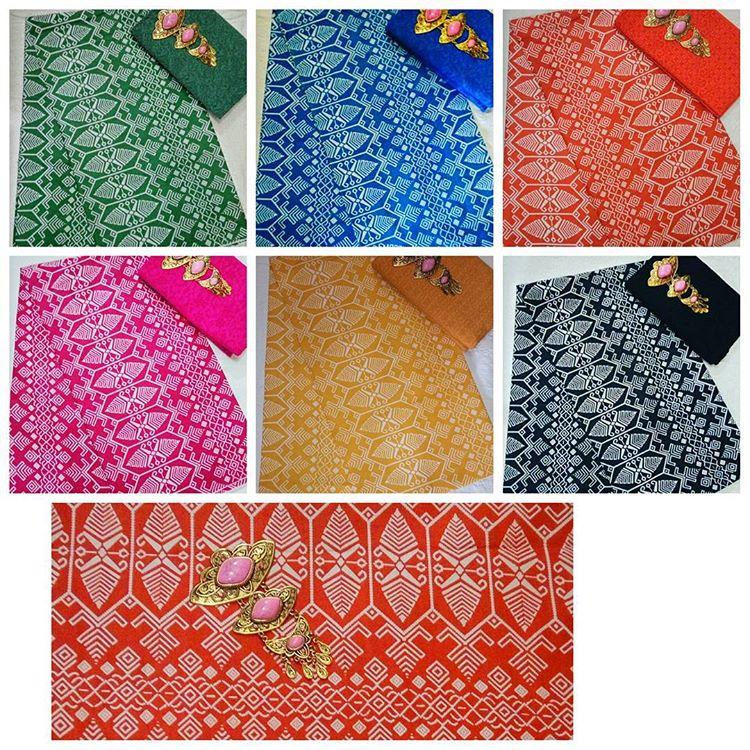 kain batik pekalongan motif songket kombinasi embos