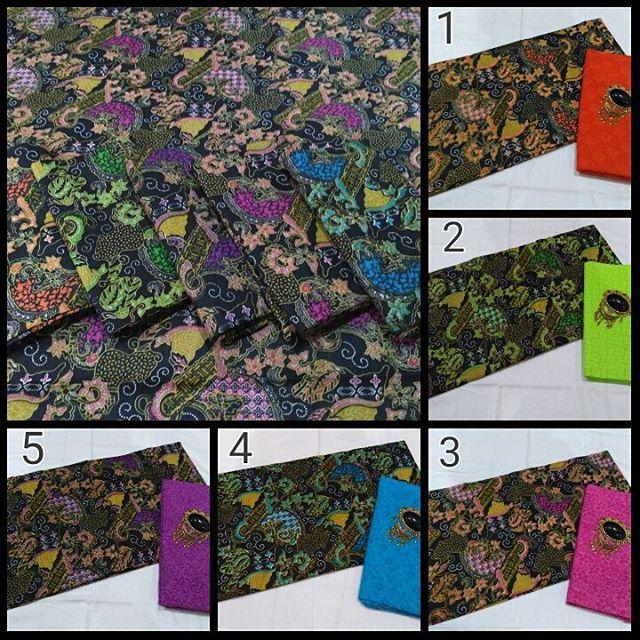 kain batik pekalongan motif semi tulis kombinasi kain embos