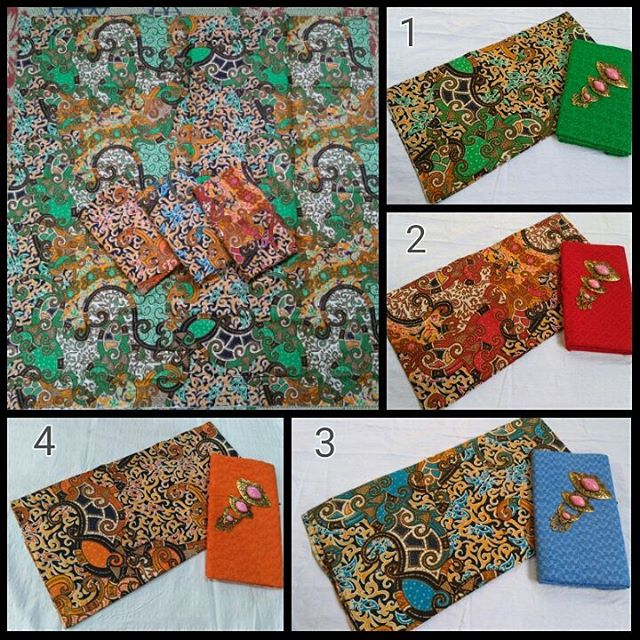 kain batik pekalongan baitik printing motif semi tulis kombinasi kain embos
