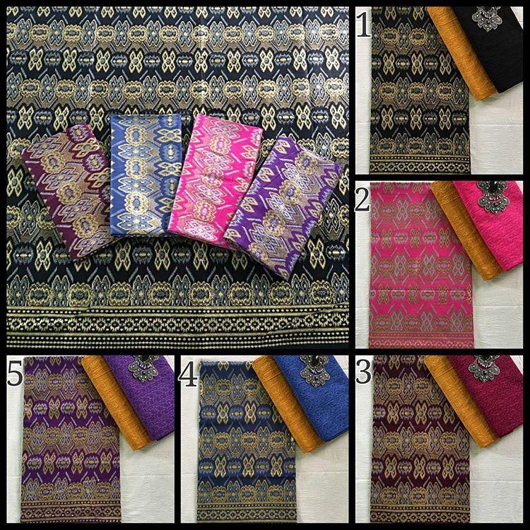 Kain Batik Pekalongan – Batik Prada Kombinasi Kain Batik Embos KA3.8