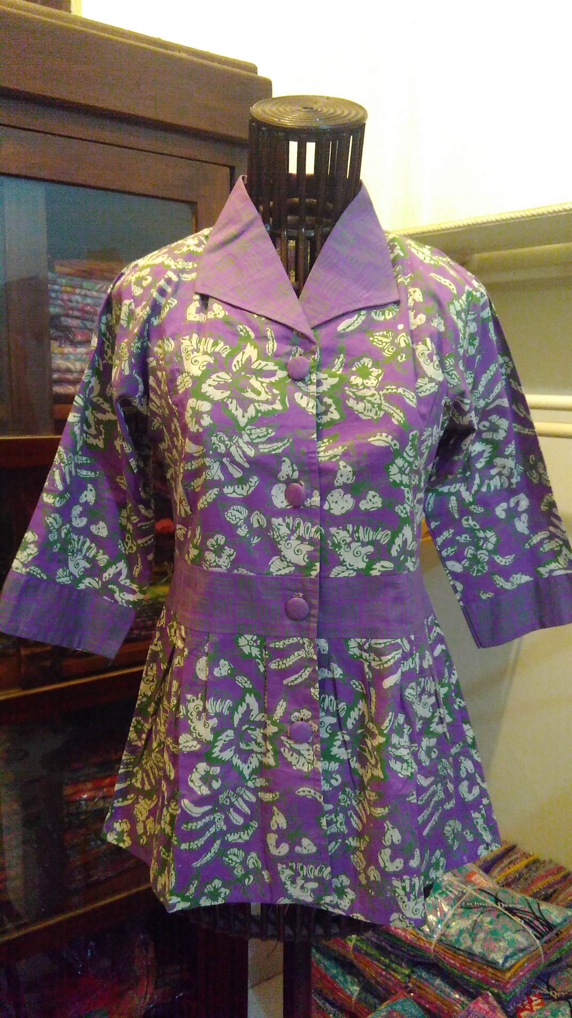 blus batik pekalongan batik cap blouse kerja