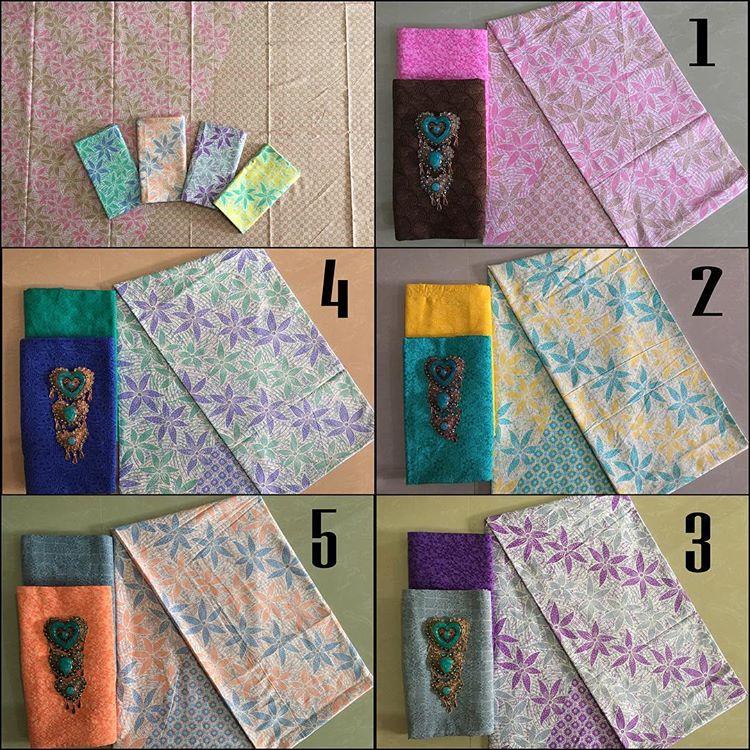 kain batik pekalongan motif daun