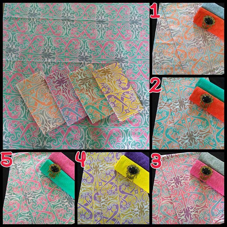 kain batik pekalongan Batik Soft Gradasi Warna Kombinasi Kain Embos