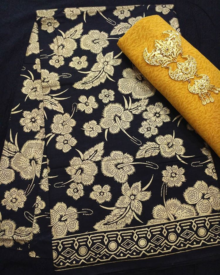 Kain Batik Pekalongan – Batik Prada Motif Bunga  KA3-20