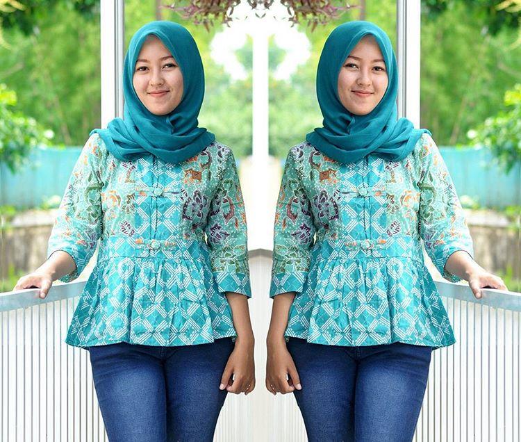 blus batik cap asli pekalongan