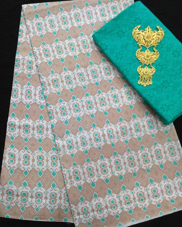 kain batik soft pastel motif songket