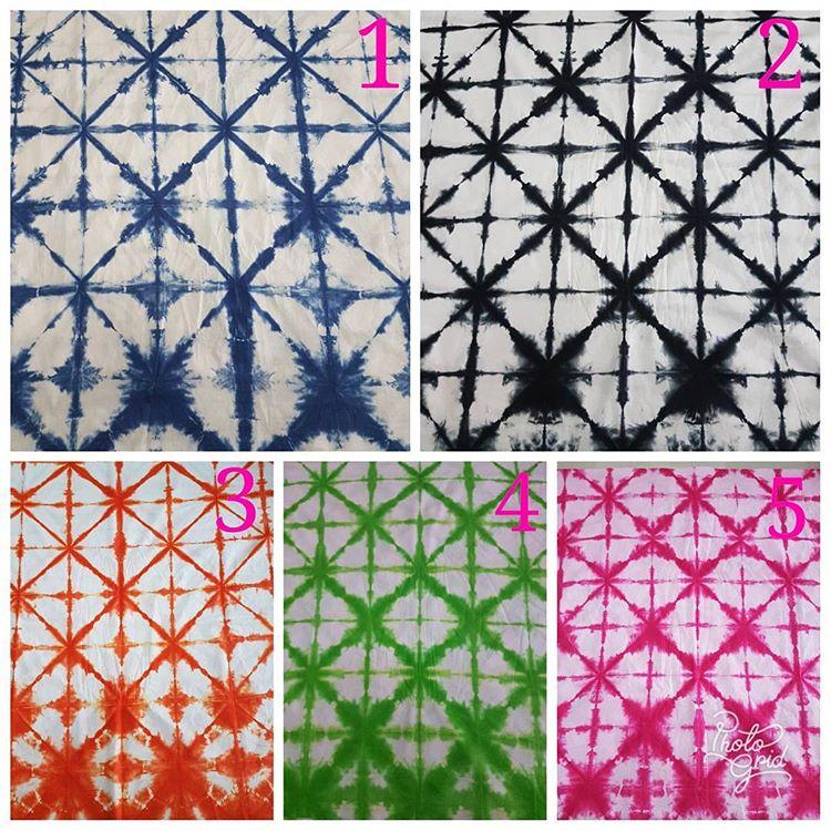 motif terbaru kain shibori halus