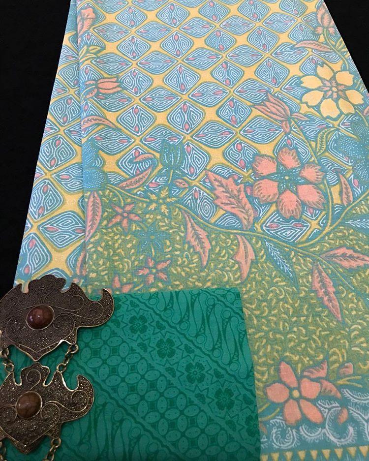 Kain Batik Pekalongan – Batik Printing Warna Soft Pastel Kombinasi Embos – KA2.76