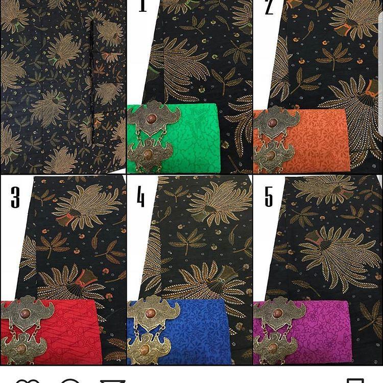 kain batik motif padi kombinasi embos