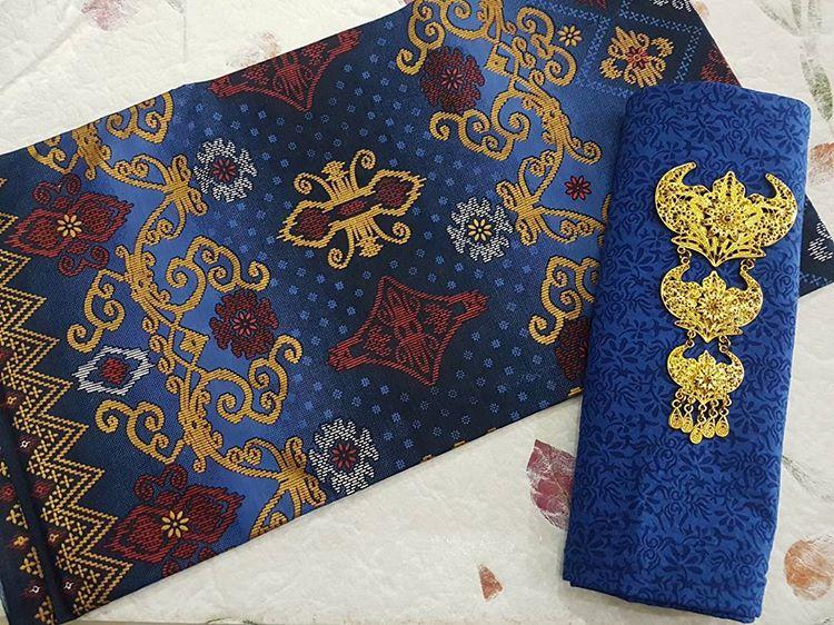 Kain Batik Prada Motif Songket