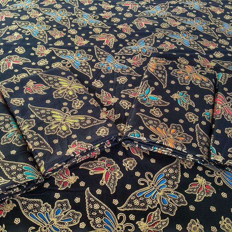 kain batik prada motif kupu kupu unik