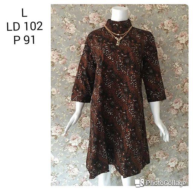 tunik batik cap motif sogan