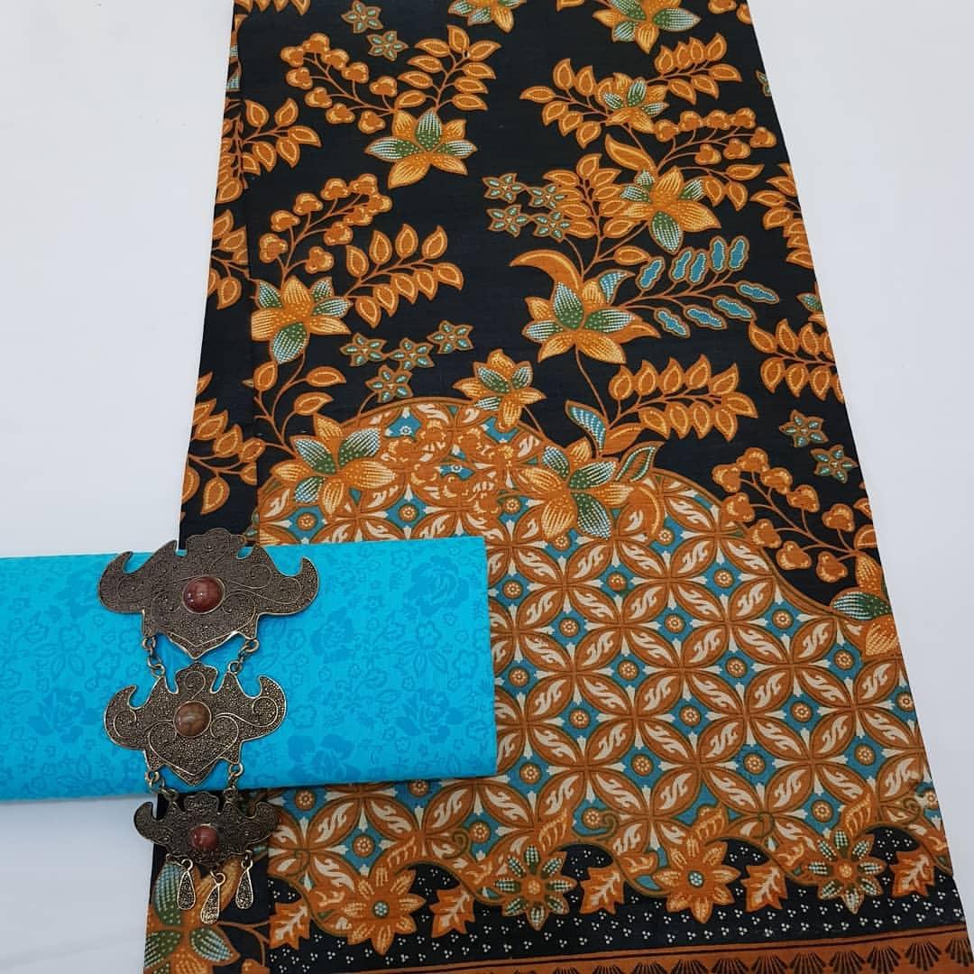 Kain Batik Pekalongan – Batik Printing Motif Daun Kombinasi Embos – KP1-1
