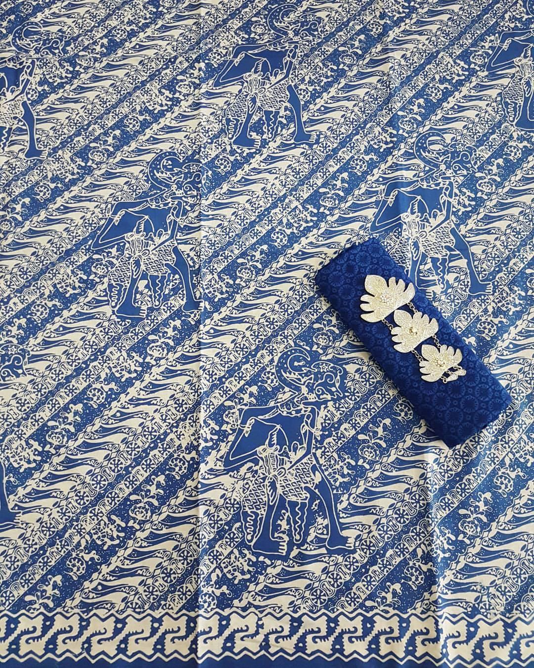 batik cap wayang kombinasi