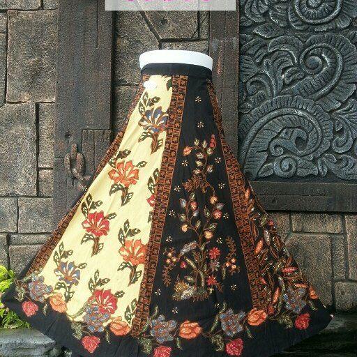 Rok Batik Cap Sogan Kombinasi