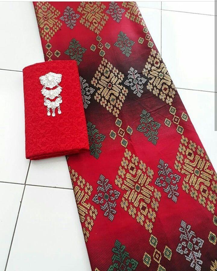 Kain Batik Prada Motif Songket Berbagai Pilihan Warna Kombinasi Embos  –  Prd.1-1