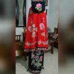 Mukena Batik Cap Katun Halus Kombinasi Bordir  – M18.4