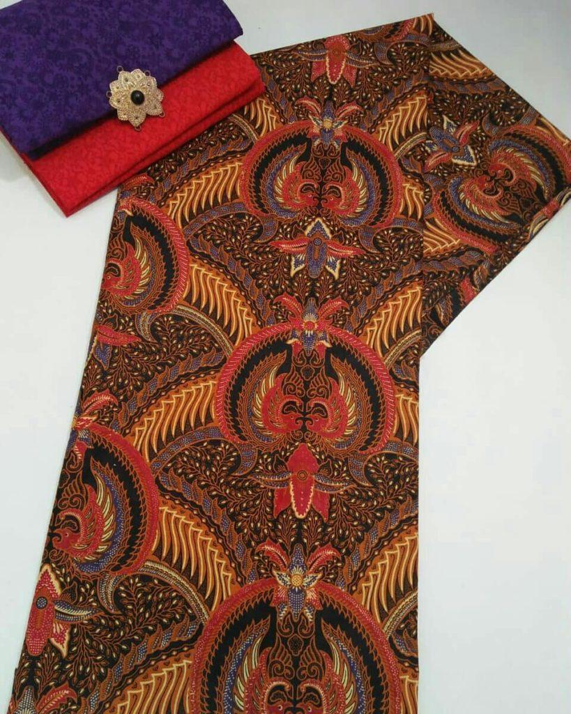 Kain Batik Pekalongan – Batik Printing Sogan Warna Coklat – 2018-P1.1