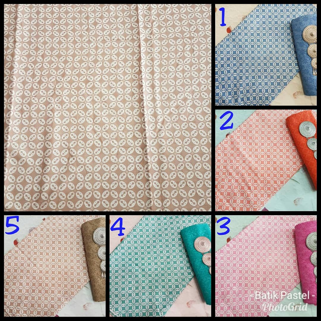 kain batik motif kawung warna soft