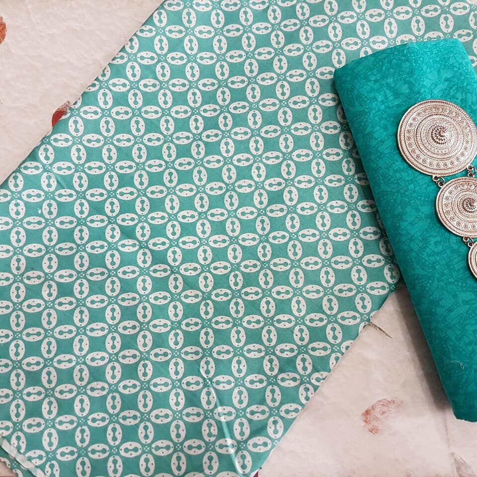 kain batik motif kawung warna soft kombinasi embos warna hijau tosca