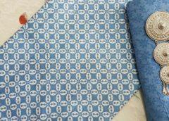 Kain Batik Pekalongan – Batik Printing Motif Kawung Warna Soft Kombinasi Embos – 2018-P2.1