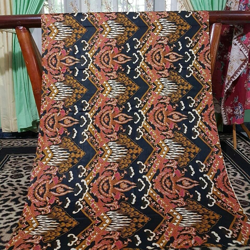 kain batik pekalongan motif  tirta alam warna merah