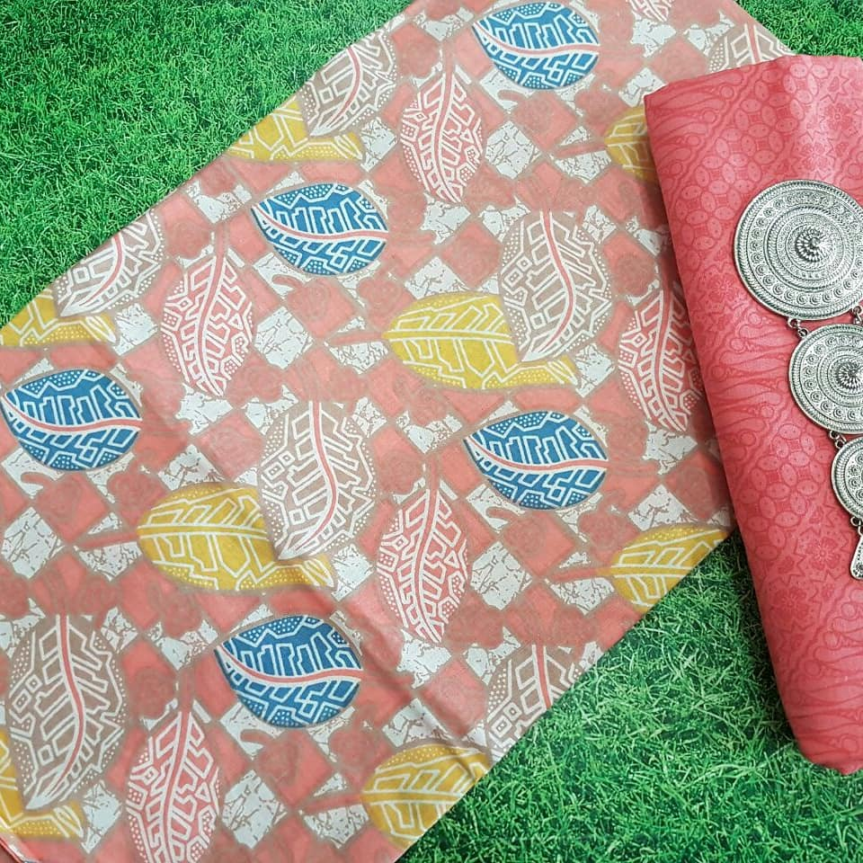 batik katun warna soft