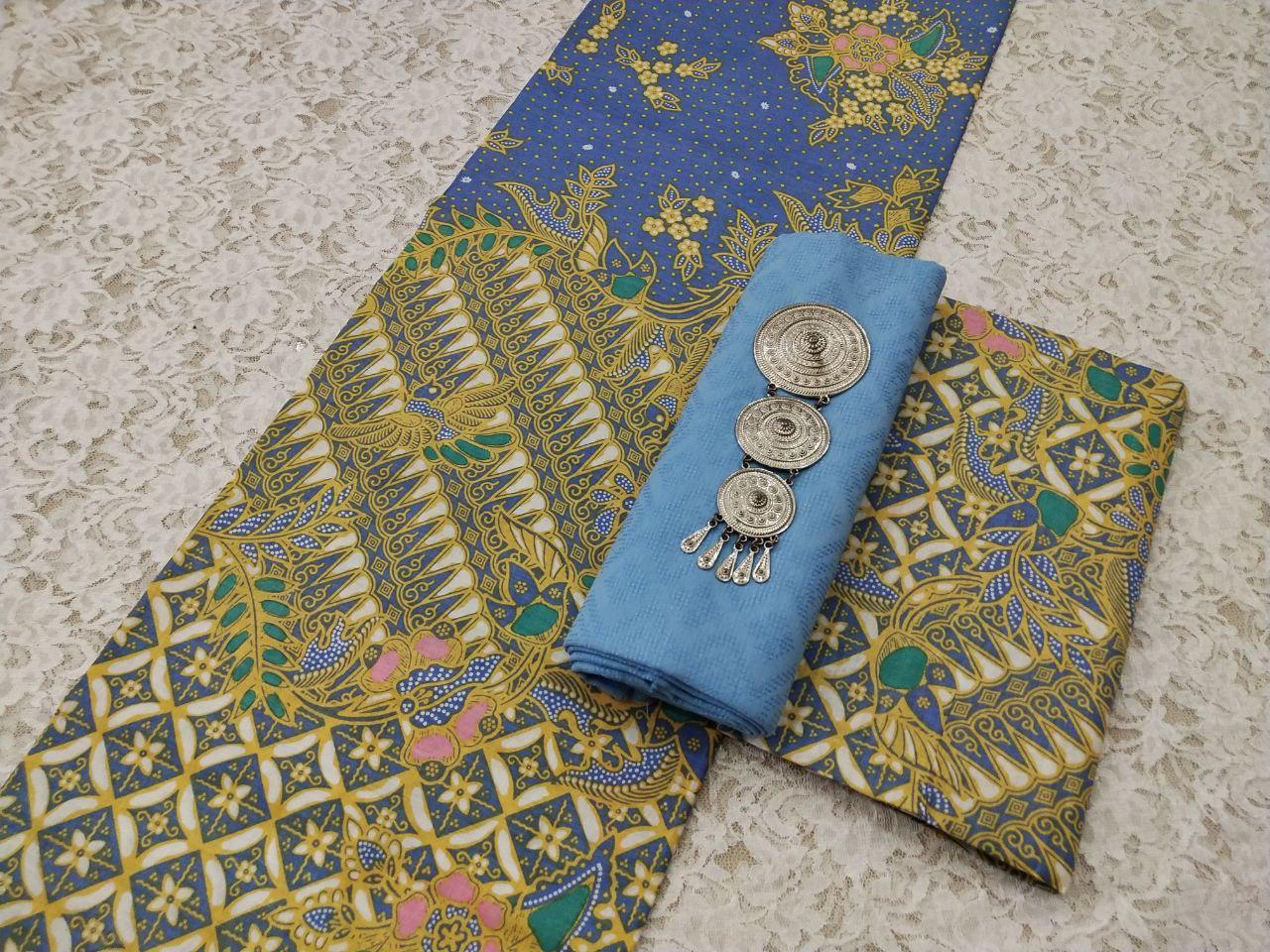 batik pekalongan kombinasi polos halus