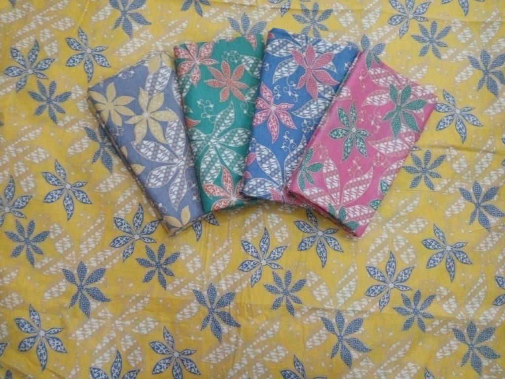Kain Batik Murah – Batik Bahan Katun Warna Soft Pastel Kombinasi Embos – P3-2