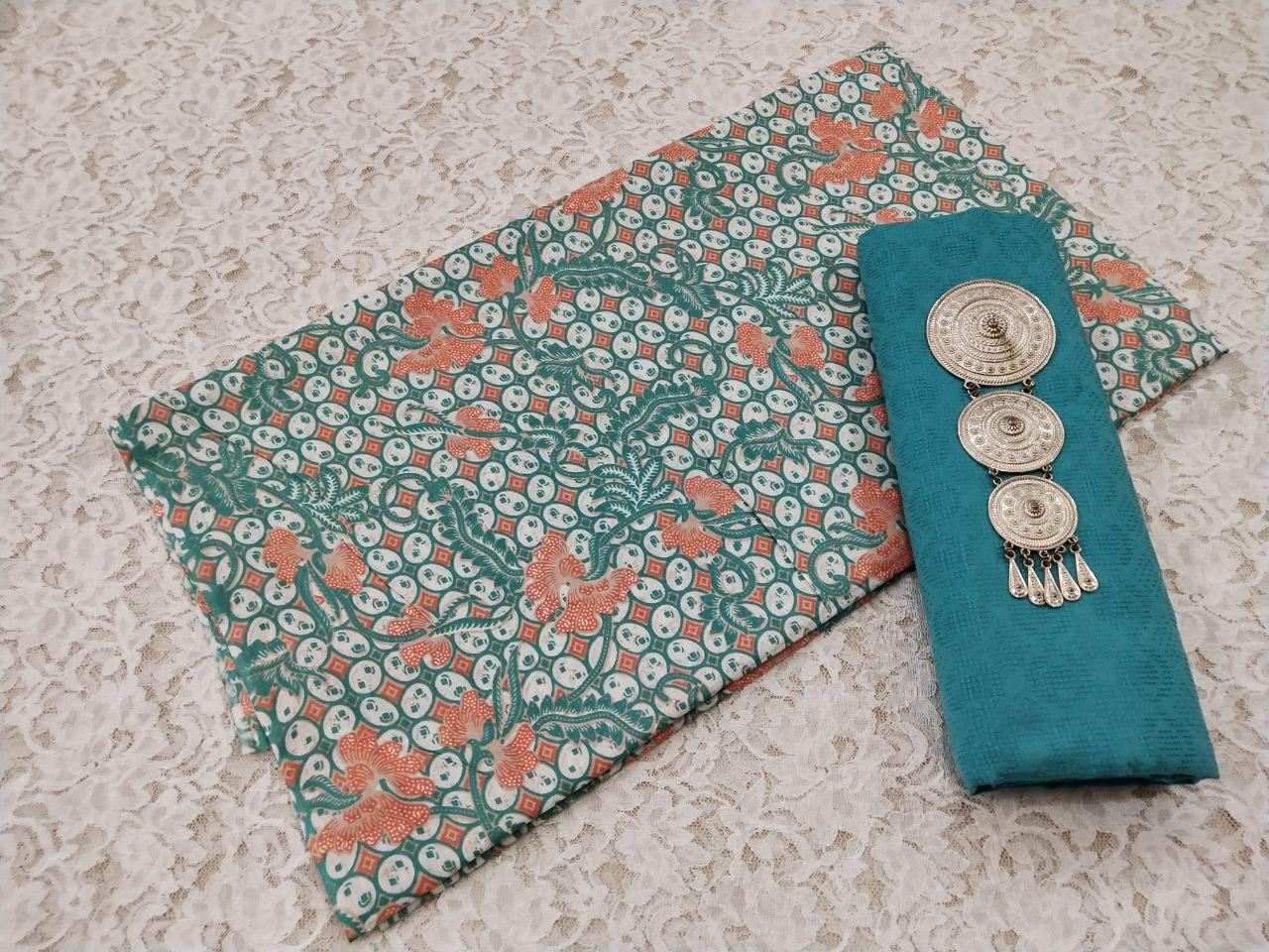 kain batik warna soft motif kawung kecil warna hijau