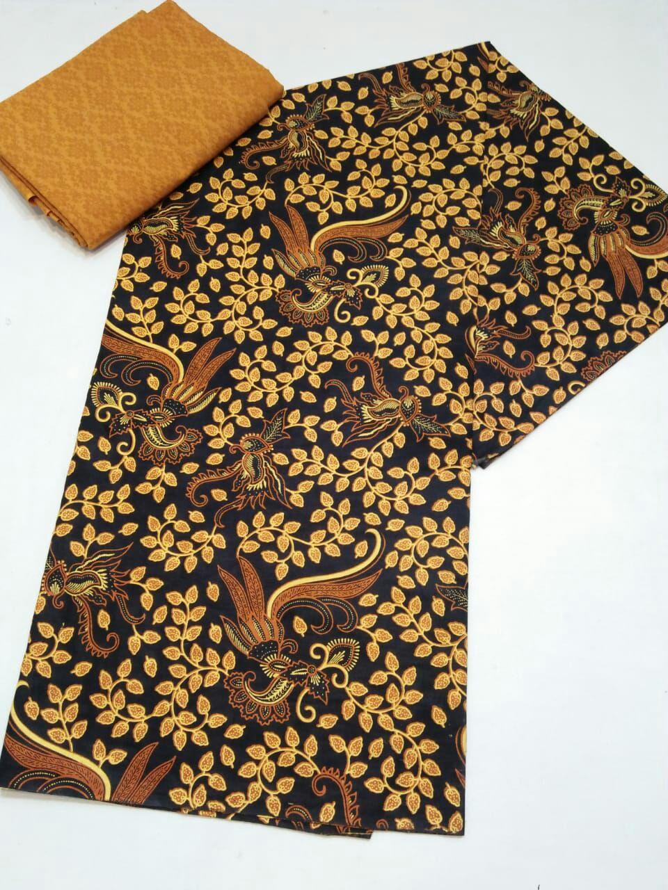 kain batik sogan kombinasi embos untuk baju resmi