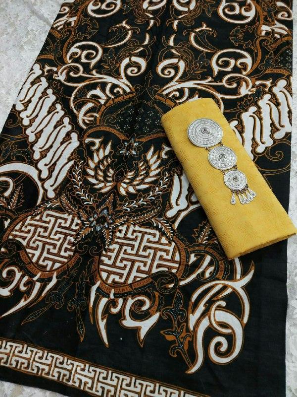 pilihan kain batik warna hitam