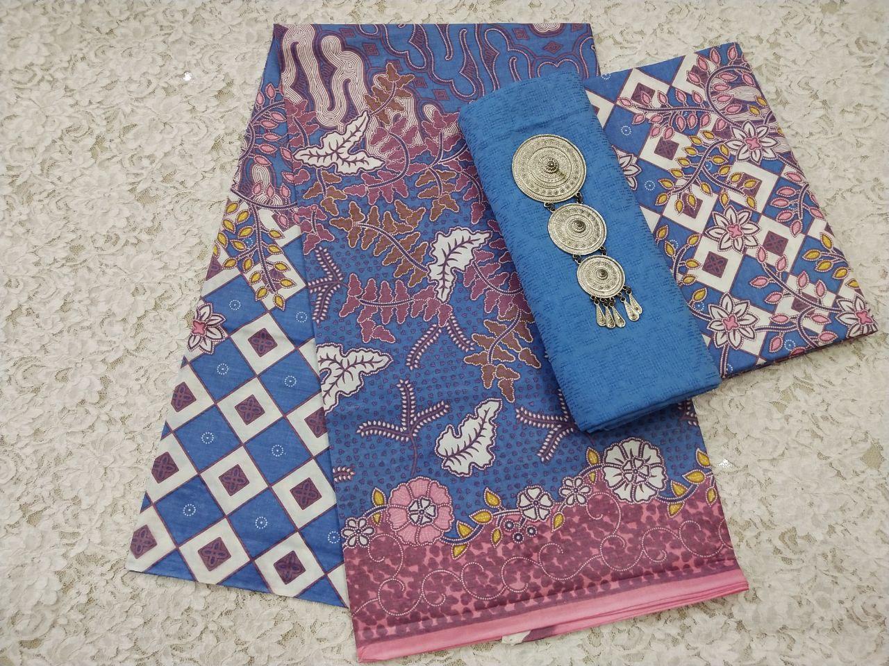 kain batik printing warna soft pastel